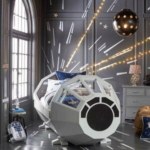 Pottery Barn Kids Millennium Falcon Bed.